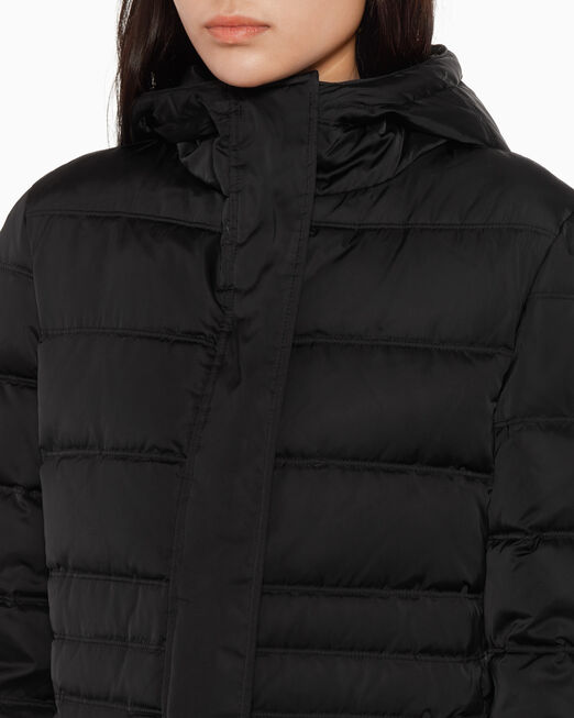 CALVIN KLEIN LONG HOODED DOWN PUFFER JACKET