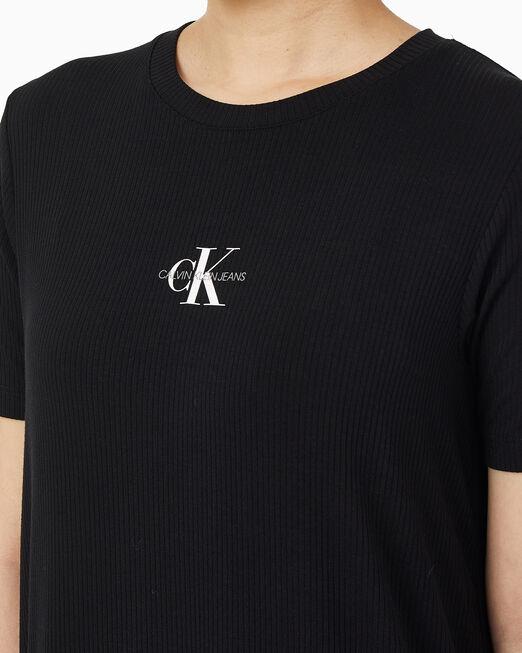 CALVIN KLEIN 여성 맥시 립 티셔츠 드레스