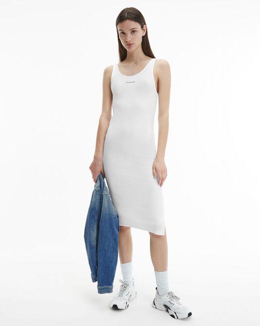 CALVIN KLEIN 여성 마이크로 브랜딩 스트랩 립 드레스