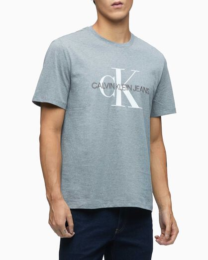 CALVIN KLEIN EMBROIDERED MONOGRAM LOGO TEE