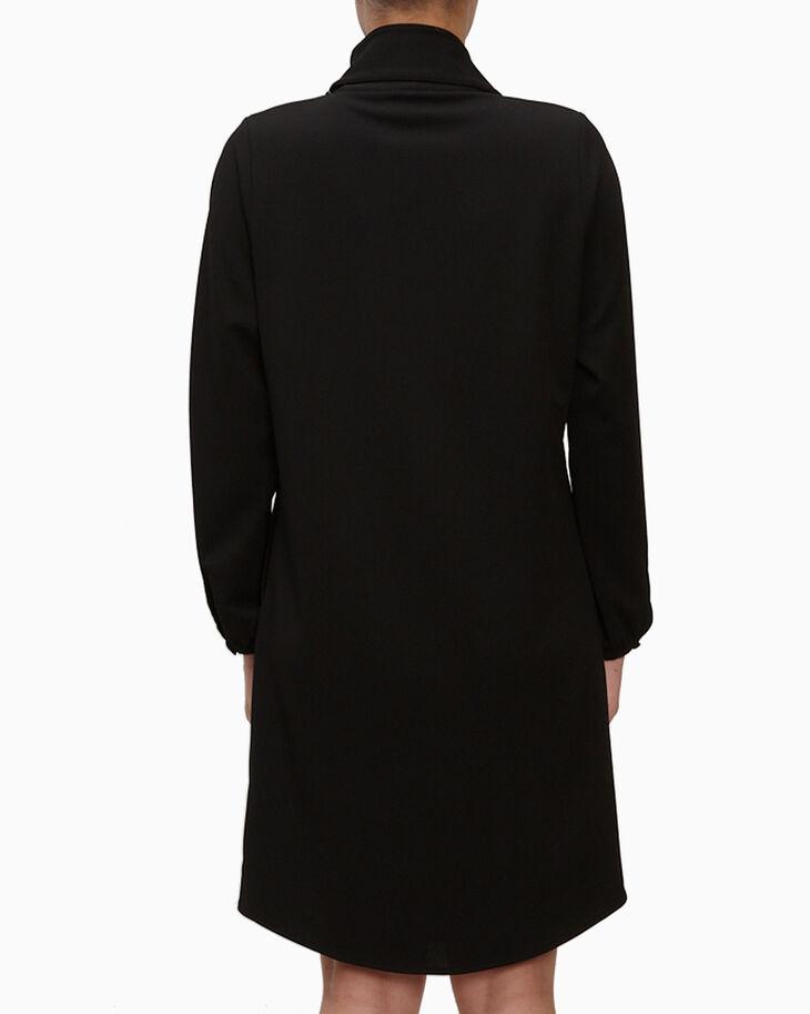 CALVIN KLEIN SCUBA CREPE SPLIT DRESS