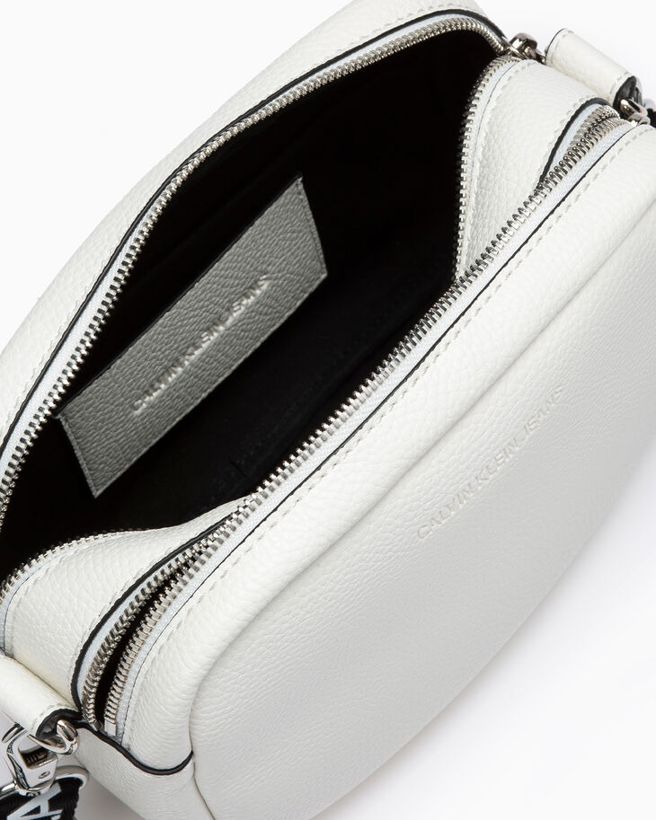 CALVIN KLEIN ULTRA LIGHT LOGO WEBBING DOUBLE ZIP CROSSBODY BAG