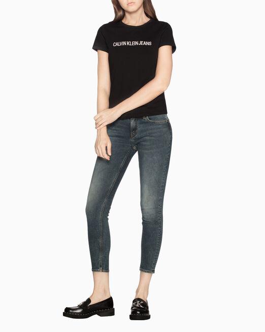 CALVIN KLEIN 자수 로고 티셔츠