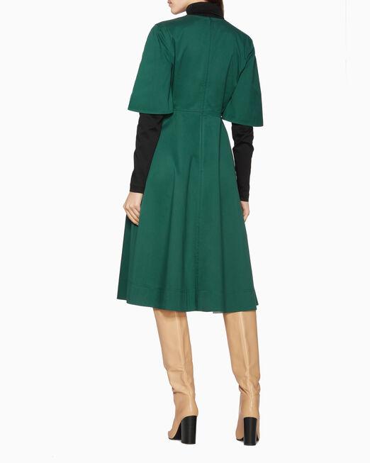 CALVIN KLEIN 트윌 딥 브이 드레스