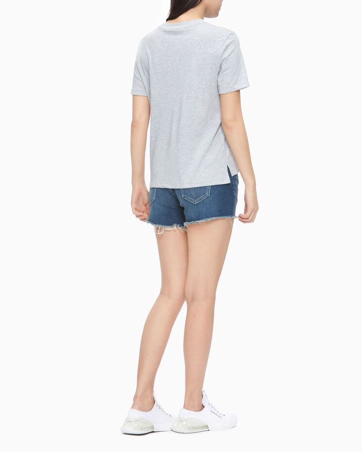 CALVIN KLEIN 37.6 DISTRESSED MID-RISE DENIM SHORTS