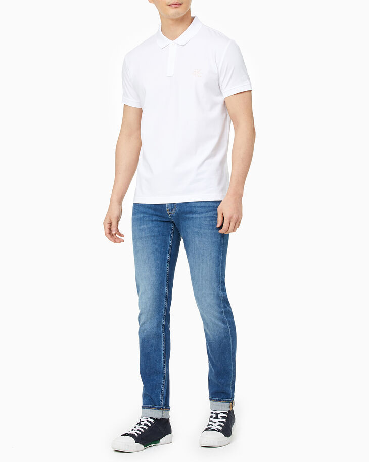 CALVIN KLEIN MONOGRAM SLIM POLO SHIRT