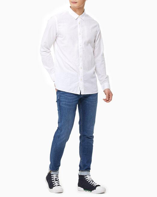CALVIN KLEIN 남성 AF 린넨 롱 슬리브 셔츠