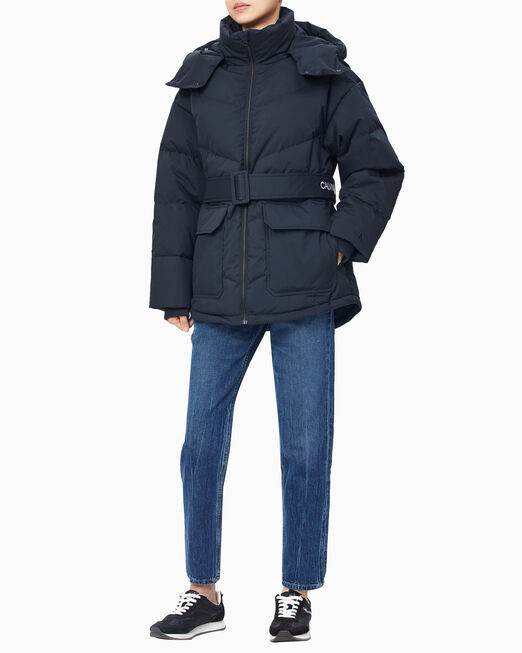 CALVIN KLEIN 여성 미드 푸퍼 다운 재킷