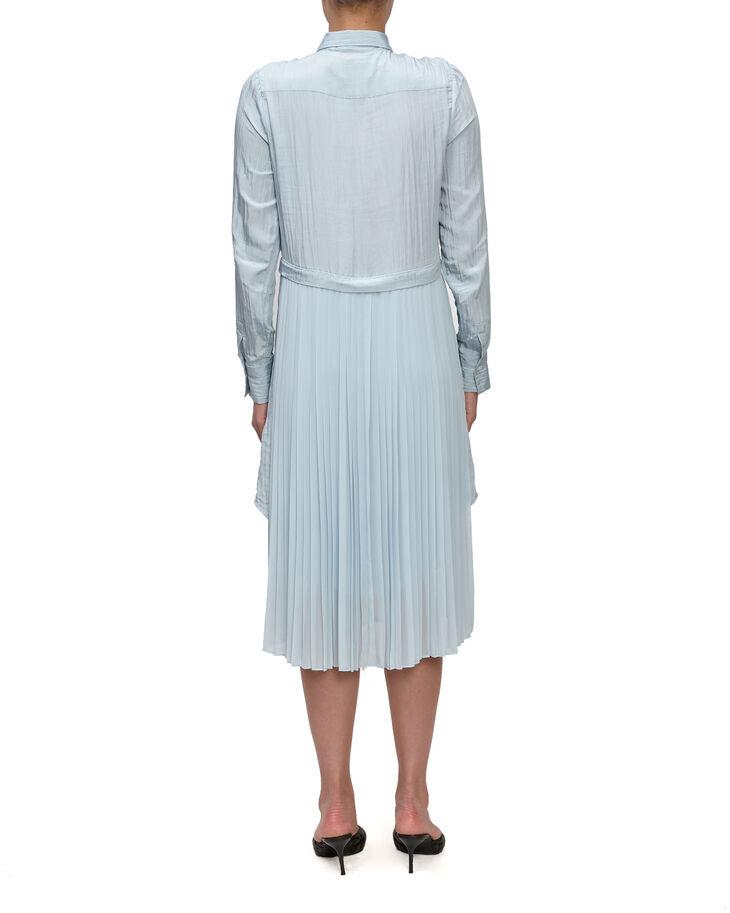 CALVIN KLEIN CRUSHED SHIRTING PLEAT DRESS