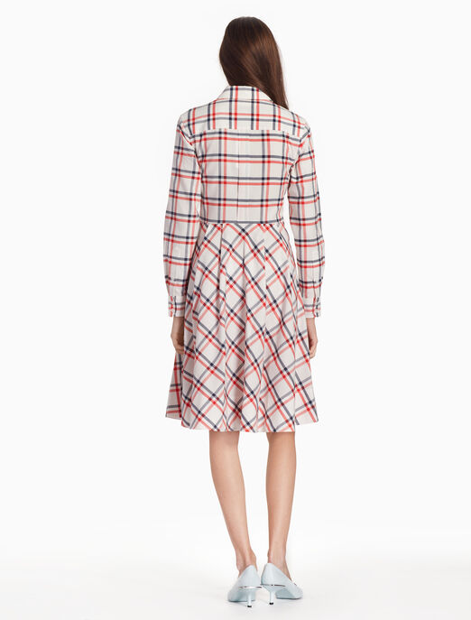 CALVIN KLEIN 체크 셔츠 드레스