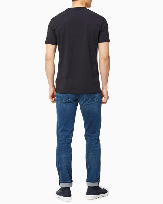 CALVIN KLEIN 남성 캘빈 플로킹 티셔츠