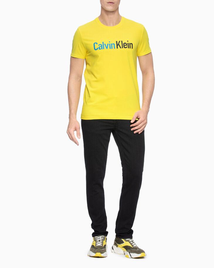 CALVIN KLEIN STITCHED ロゴスリム T シャツ