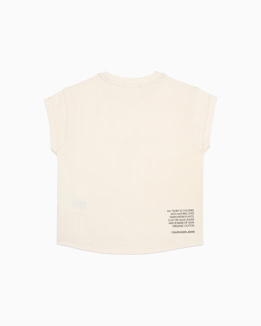 CALVIN KLEIN 여아용 NATURAL DYE MONOGRAM 티셔츠