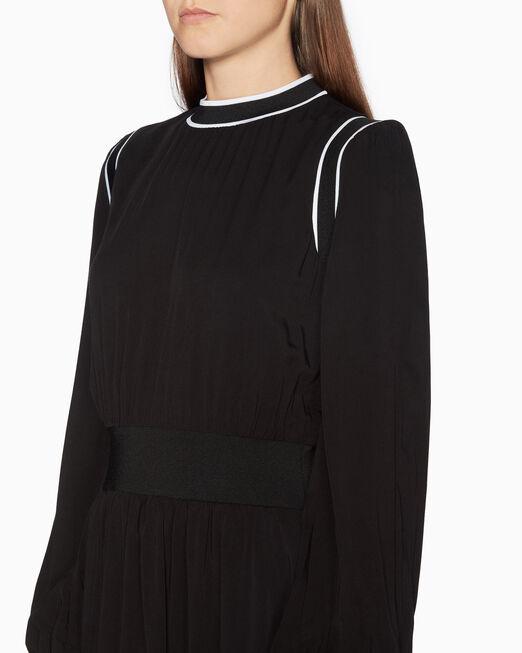 CALVIN KLEIN STRIPE TAPE 맥시 드레스