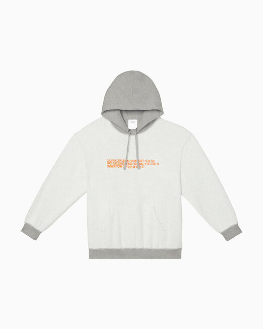 CALVIN KLEIN INSIDE OUT EMBROIDERED EST. 1978 LOGO 후디