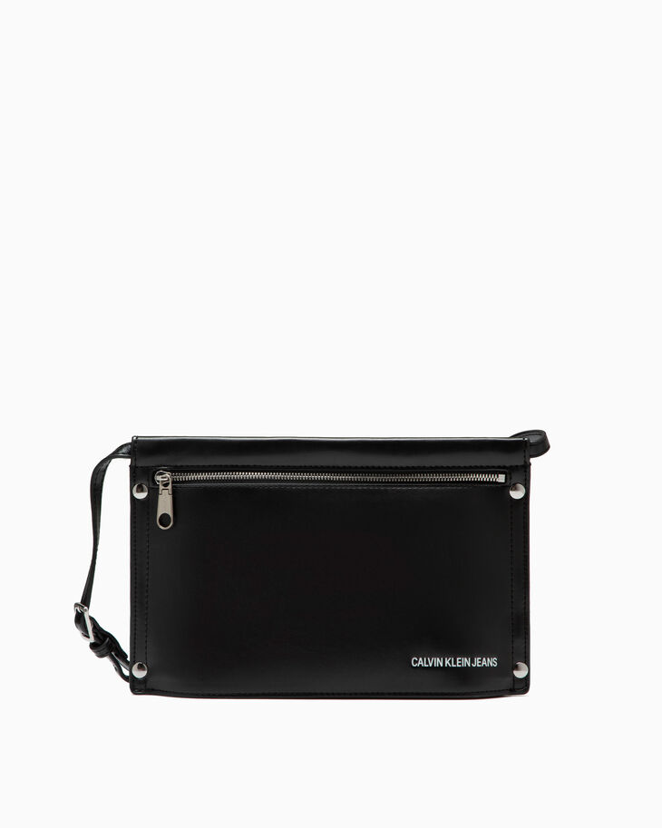 CALVIN KLEIN RIVET POUCH WITH REMOVABLE STRAP