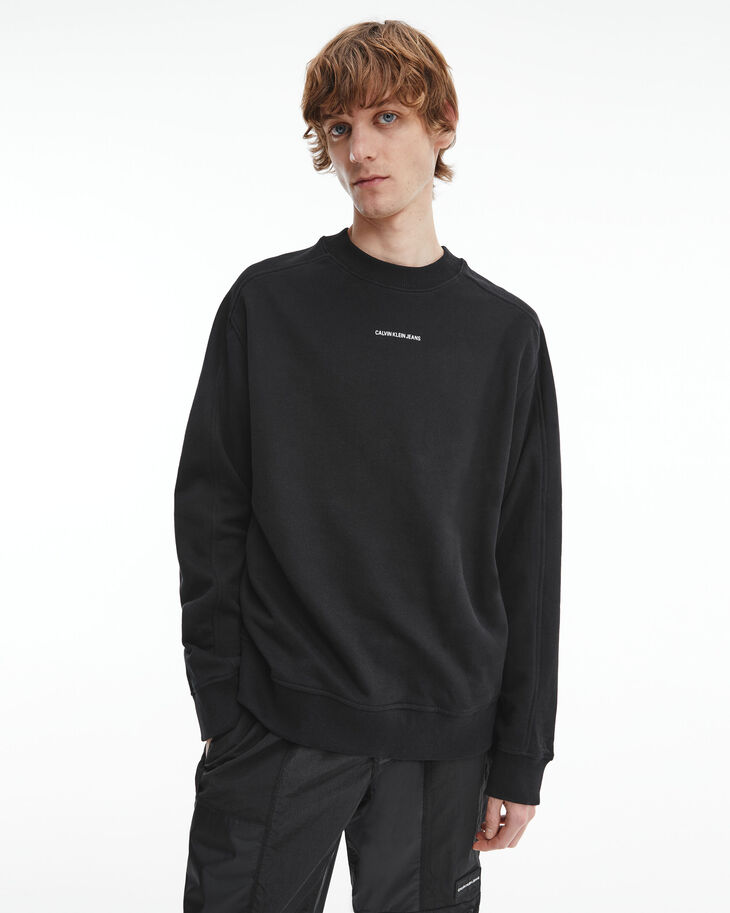 CALVIN KLEIN THE BASICS MICRO LOGO SWEATSHIRT
