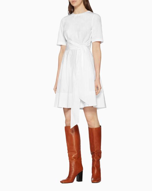 CALVIN KLEIN 라이트웨이트 코튼 포플린 드레스