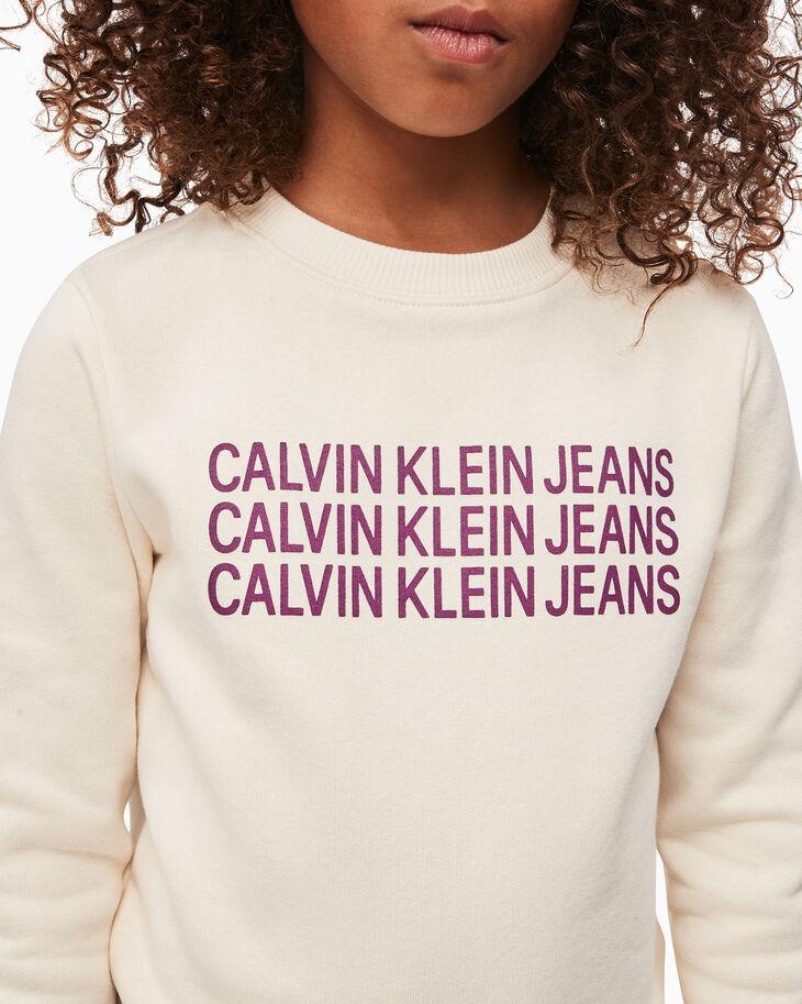 CALVIN KLEIN GIRLS TRIPLE LOGO SWEATSHIRT