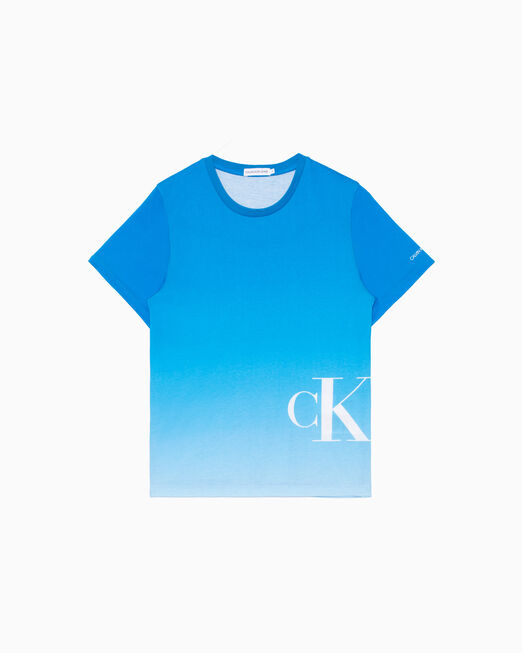 CALVIN KLEIN 남아용 GRADIENT MONOGRAM 티셔츠