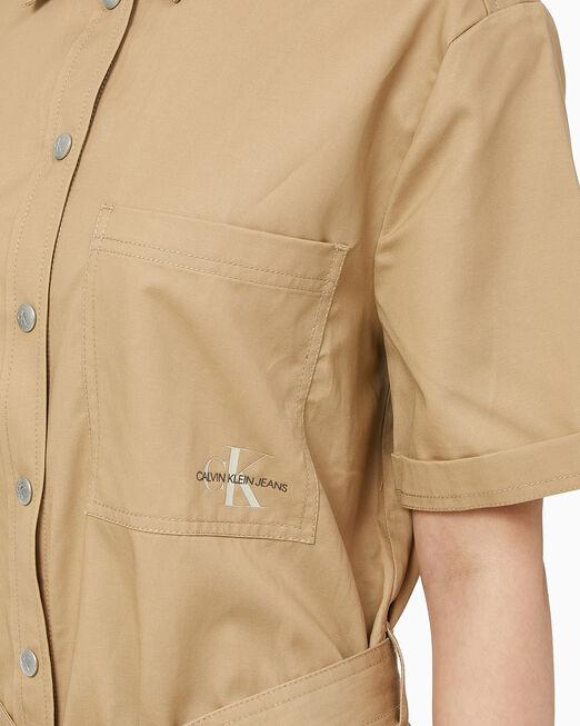 CALVIN KLEIN 여성 유틸리티 셔츠 드레스