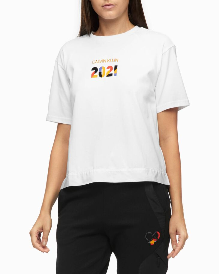 CALVIN KLEIN CHINESE NEW YEAR CAPSULE BACK OVERLAY TEE