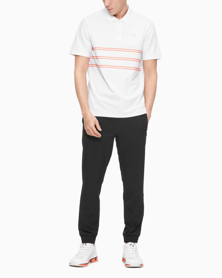 CALVIN KLEIN SUMMER WORKOUT STRIPED POLO SHIRT