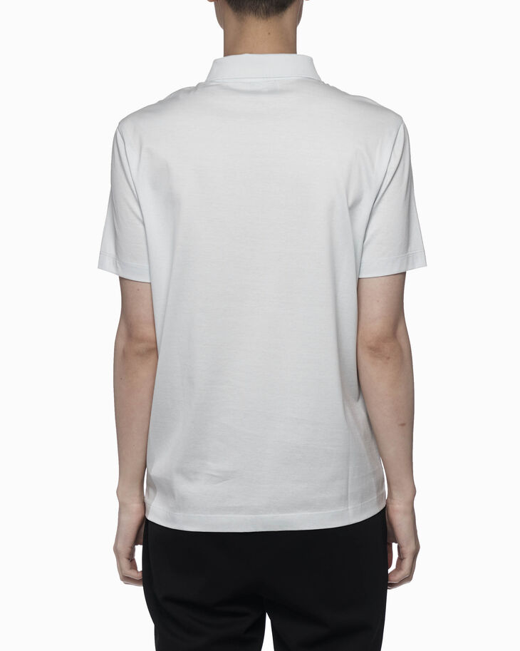 CALVIN KLEIN ダブルマーセライズド コットン ポロシャツ