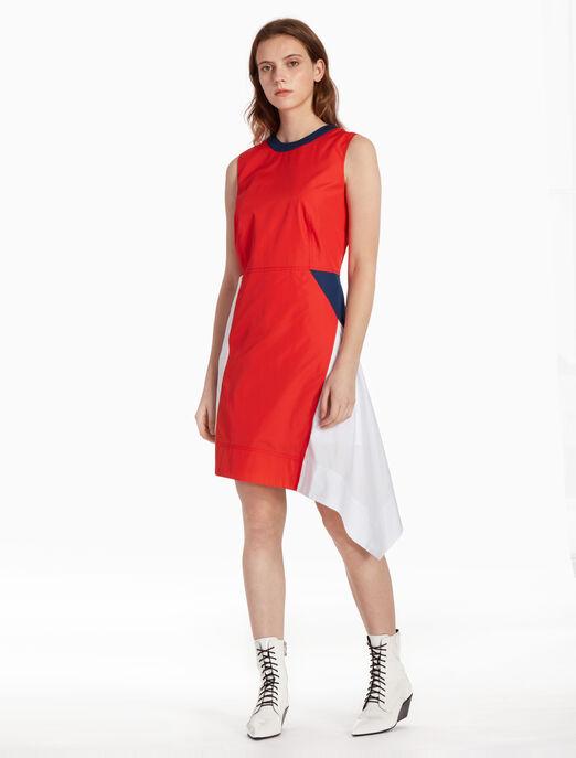 CALVIN KLEIN 레트로 컬러 블록 드레스