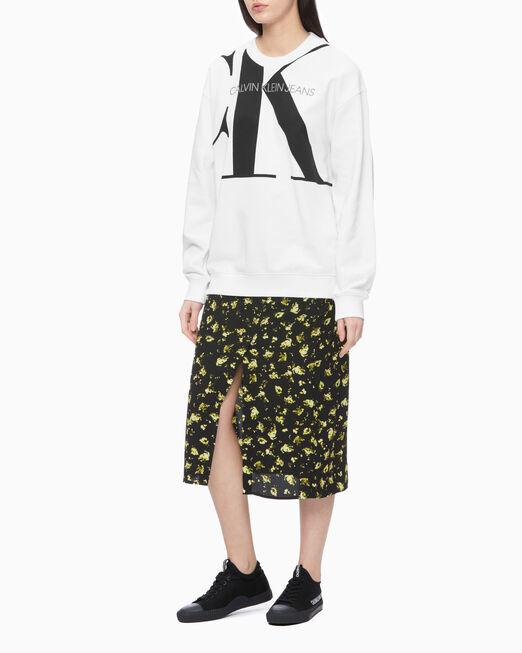 CALVIN KLEIN 여성 CK 오버사이즈 크루넥 스웨트 셔츠