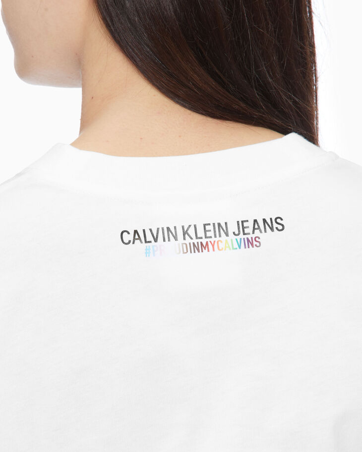 CALVIN KLEIN RAINBOW PRINT SHORT SLEEVE TEE