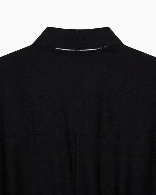 CALVIN KLEIN 여성 오버사이즈 플레이드 블로킹 셔츠 원피스