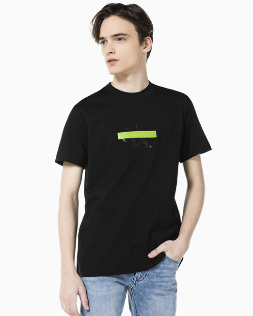 CALVIN KLEIN 남성 센서드 모노그램 로고 레귤러핏 반팔 티셔츠
