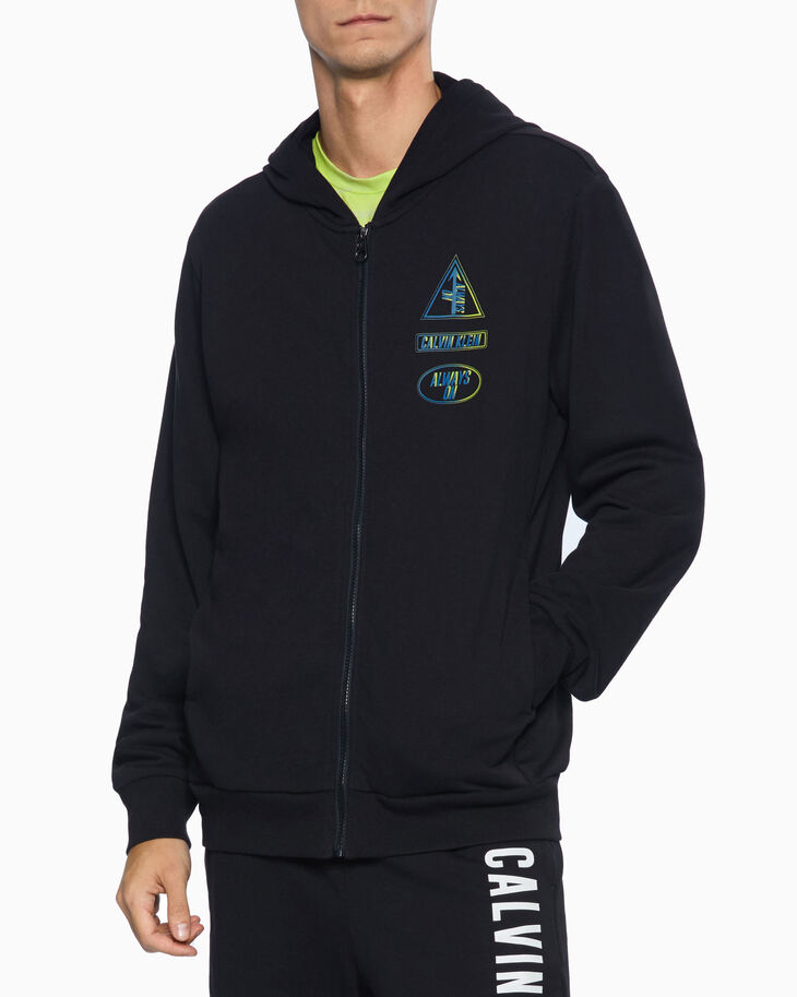 CALVIN KLEIN DIGITAL MOTION GRAPHIC ZIP UP HOODIE
