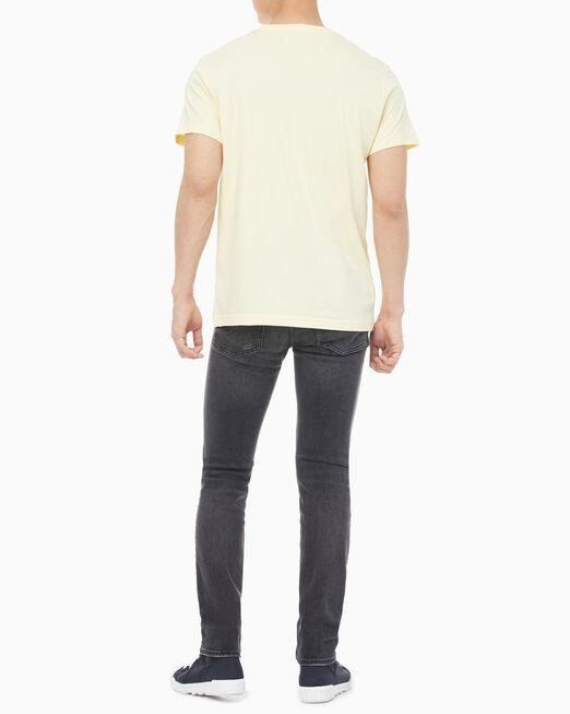 CALVIN KLEIN 남성 체스트 로고 레귤러핏 반팔 티셔츠
