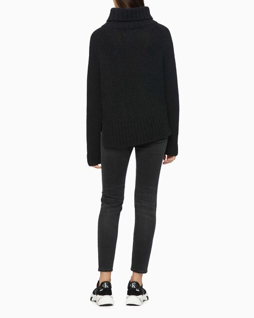 CALVIN KLEIN MONOGRAM ROLL NECK SWEATER