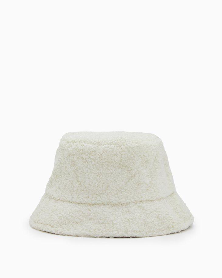 CALVIN KLEIN MONOGRAM SHERPA BUCKET HAT