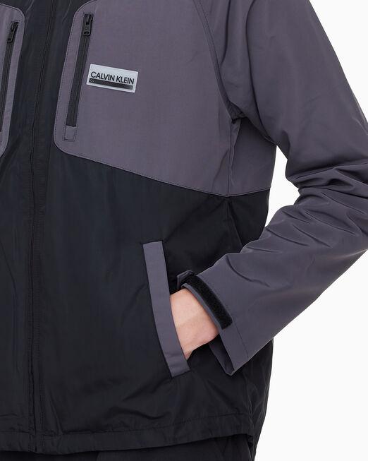 CALVIN KLEIN 남성 컬러 블락 우븐 자켓