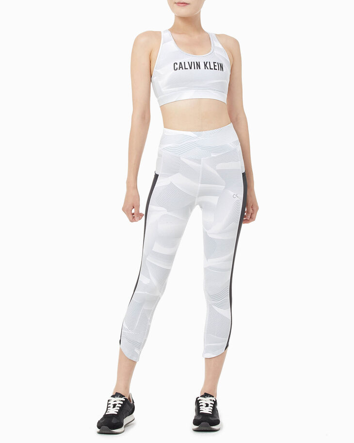 CALVIN KLEIN DIGITAL MOTION PRINT CROPPED LEGGINGS