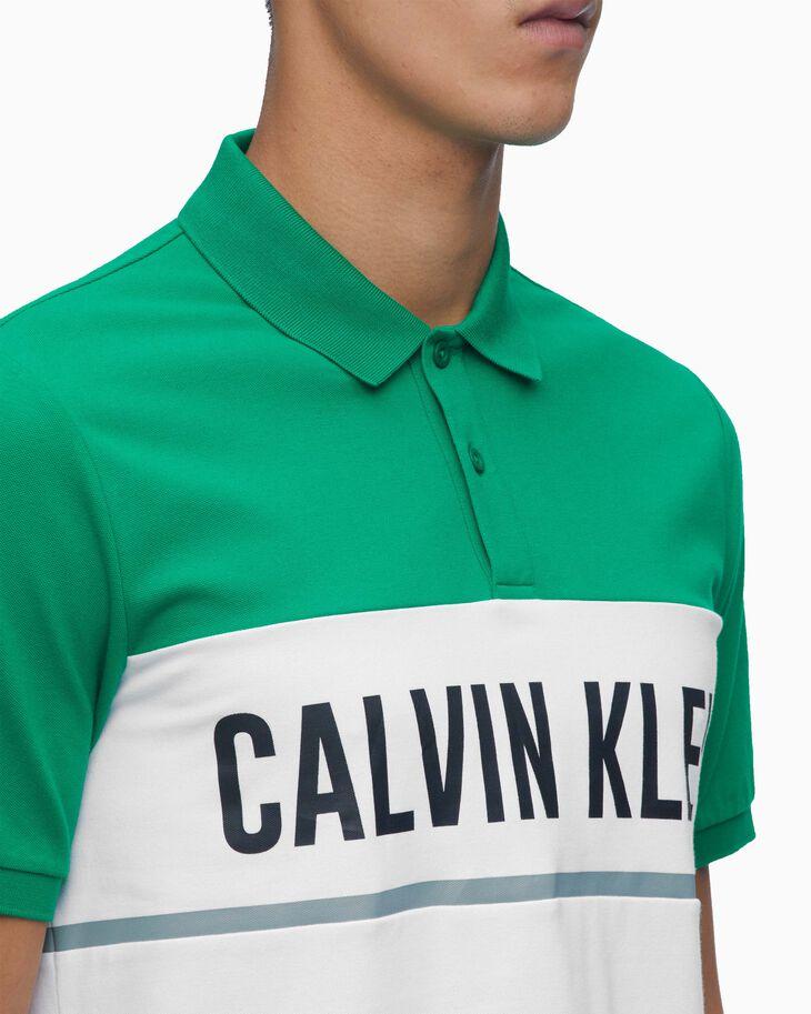 CALVIN KLEIN COLOR BLOCK POLO 恤
