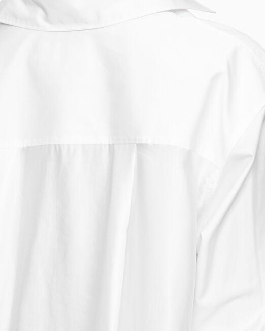 CALVIN KLEIN 여성 에이시메트릭 코튼 화이트 셔츠