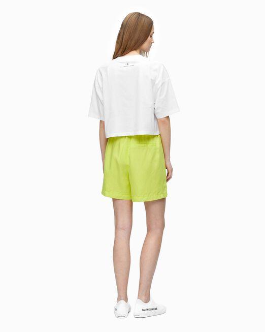 CALVIN KLEIN 여성 프라이드 크롭 반팔 티셔츠
