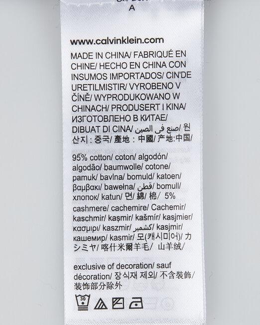 CALVIN KLEIN 남성 에센셜 컨트라스트 티핑 크루넥 스웨터