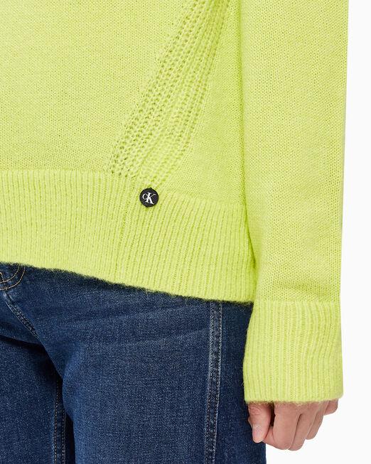 CALVIN KLEIN 여성 로프티얀 크루넥 스웨터