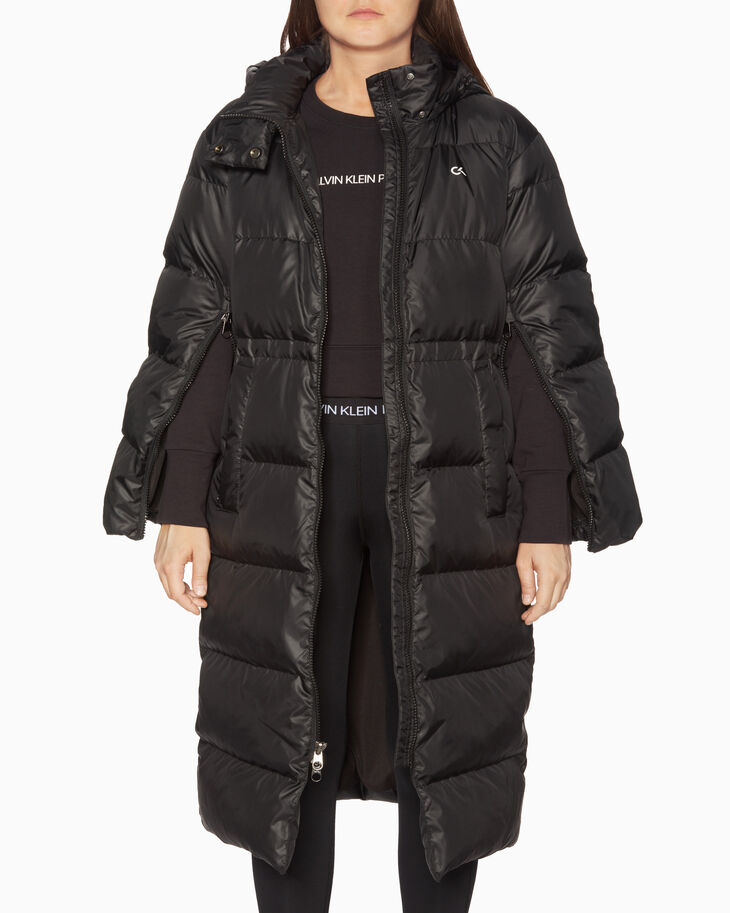 CALVIN KLEIN LONG HOODED DOWN JACKET