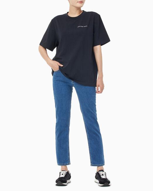 CALVIN KLEIN 여성 보이핏 반팔 티셔츠