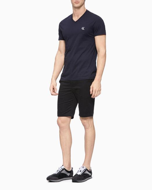 CALVIN KLEIN 남성 슬림핏 브이넥 반팔 티셔츠