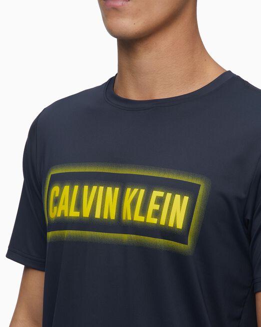CALVIN KLEIN 남성 서머 액티브 네온 라이트 로고 티