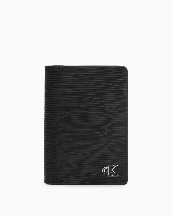 CALVIN KLEIN ENAMEL PLAQUE FOLDED CARD CASE