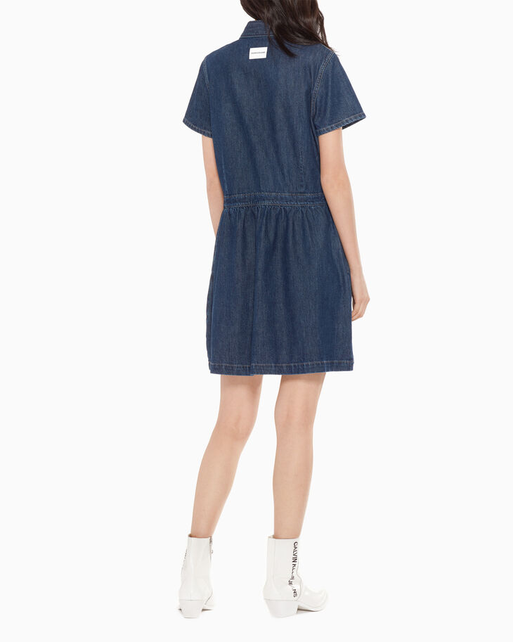 CALVIN KLEIN DENIM SHIRT DRESS